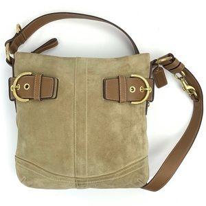 Coach Suede Crossbody Bag